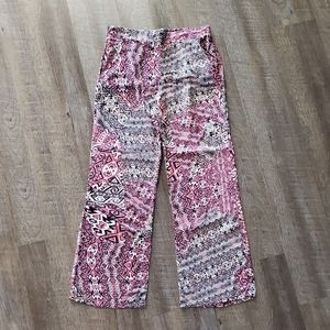 By&By Multi-Pink Wide Leg Pant